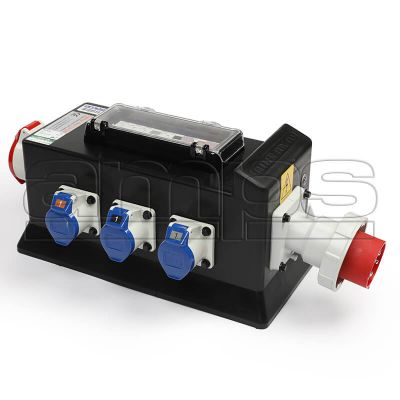 32A TP - 3 x 32A / 3 x 16A 230v Rubber Box Power Distro